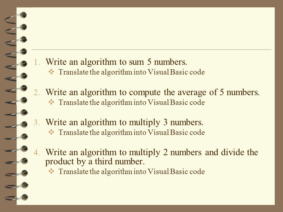 Write an algorithm to sum 5 numbers.