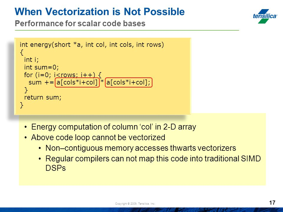 When Vectorization is Not Possible Performance for scalar code bases