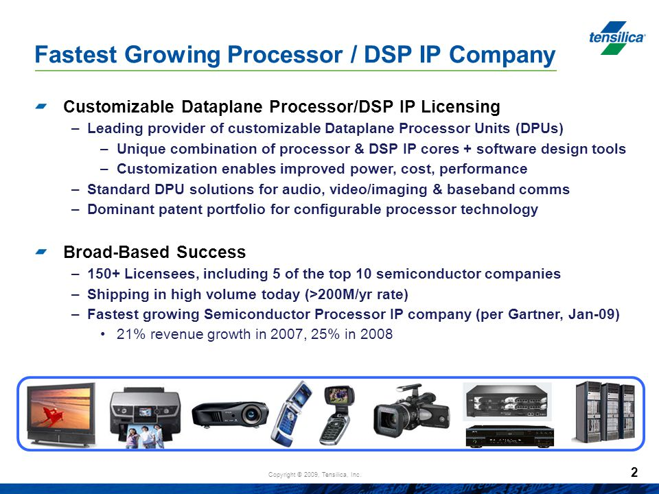 Fastest Growing Processor / DSP IP Company