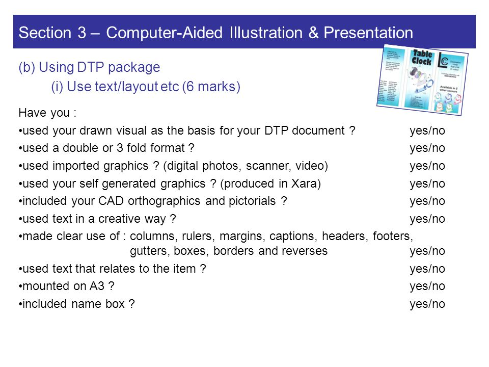 Section 3 – Computer-Aided Illustration & Presentation