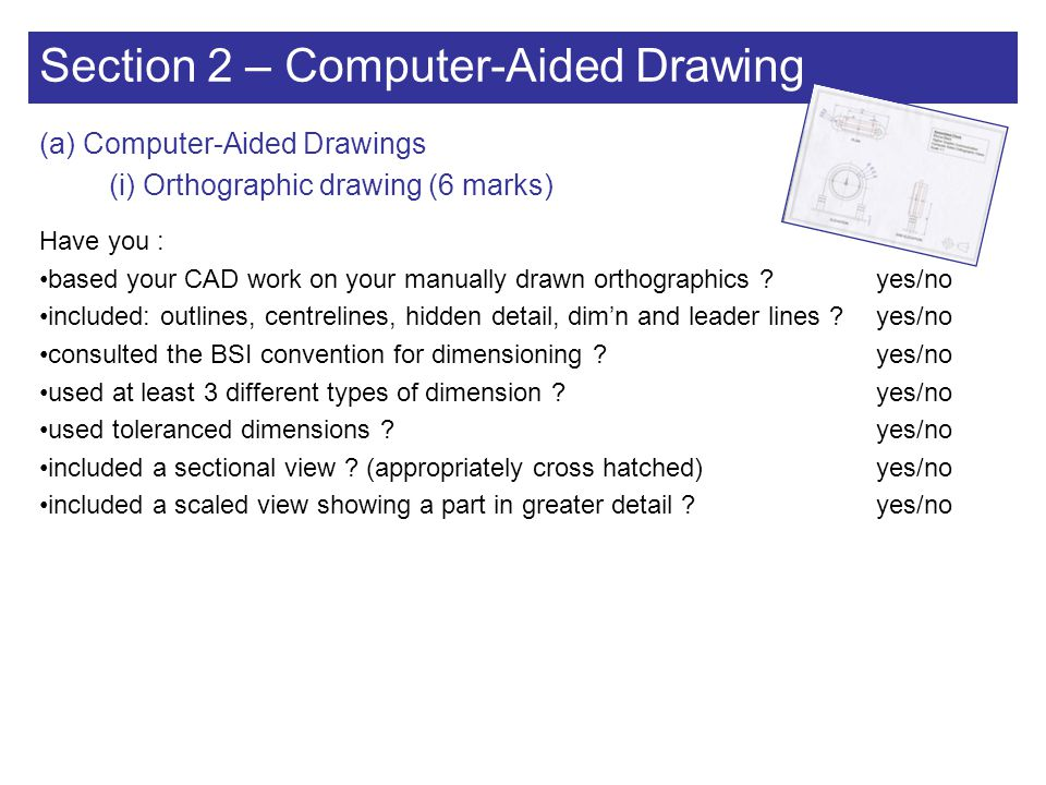 Section 2 – Computer-Aided Drawing