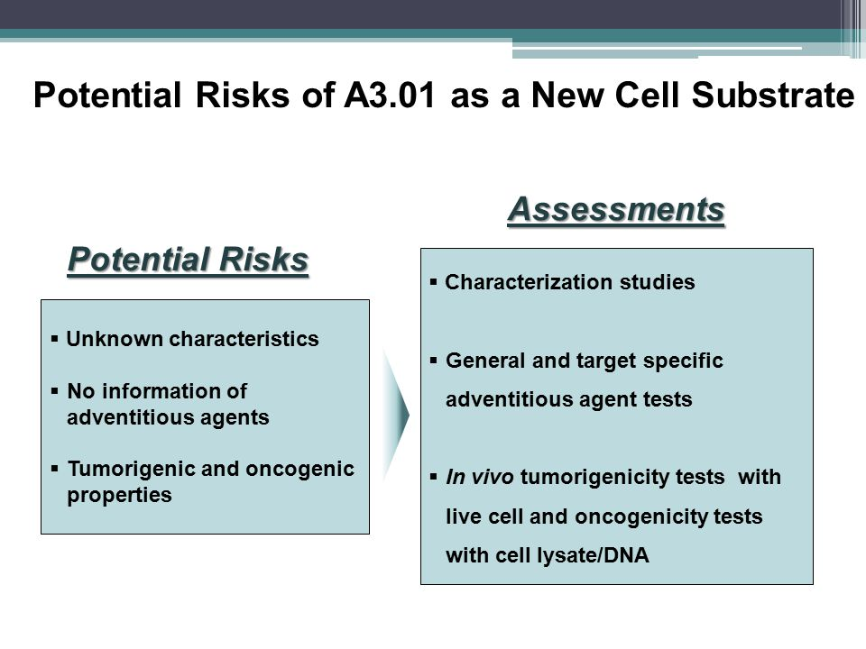 Potential Risks of A3.01 as a New Cell Substrate