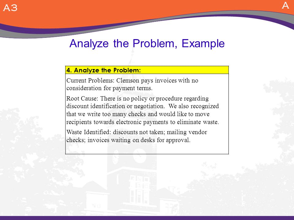 Analyze the Problem, Example