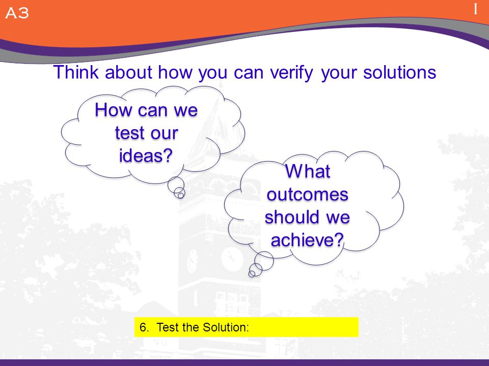 Think about how you can verify your solutions
