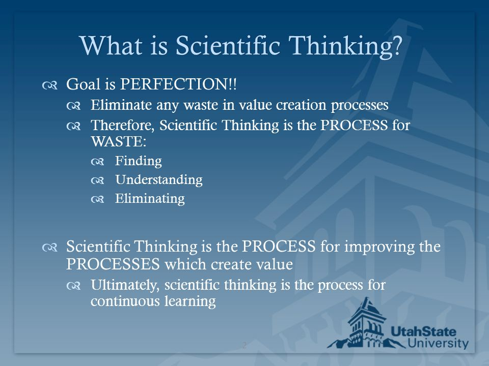What is Scientific Thinking