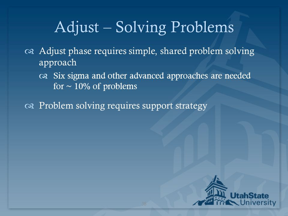 Adjust – Solving Problems