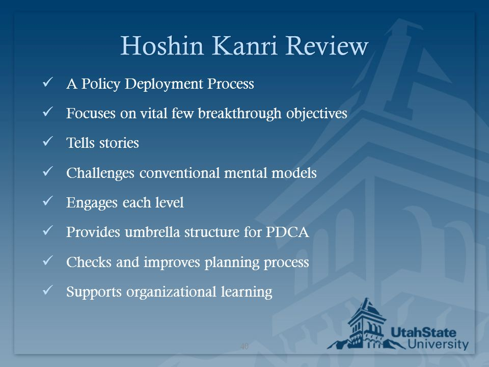 Hoshin Kanri Review A Policy Deployment Process