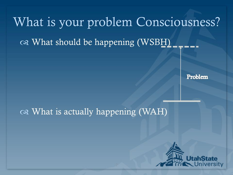What is your problem Consciousness