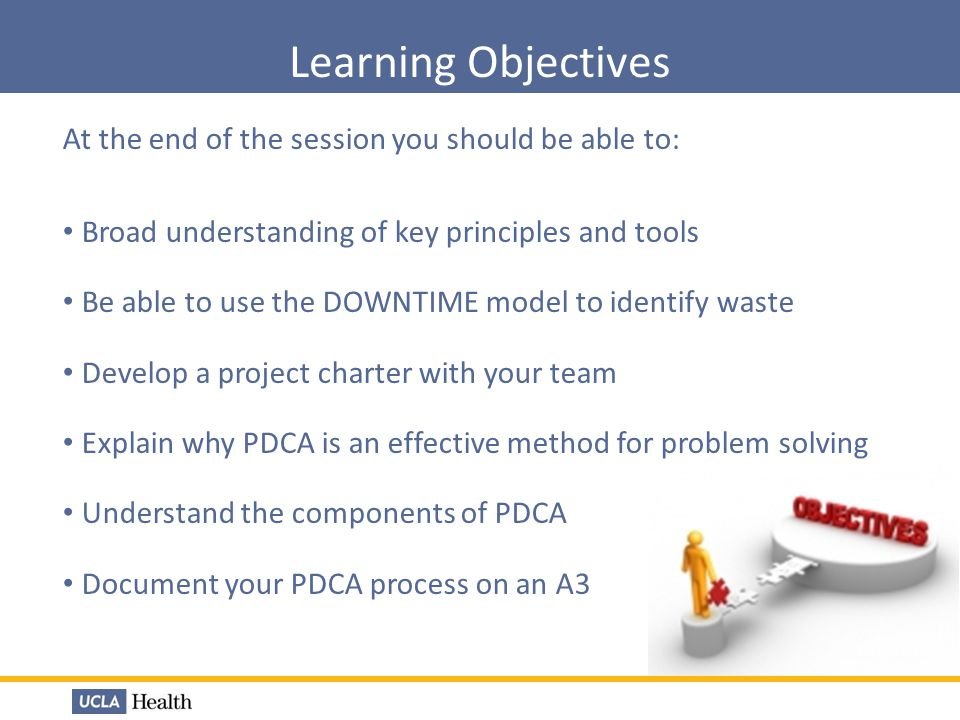 Learning Objectives At the end of the session you should be able to:
