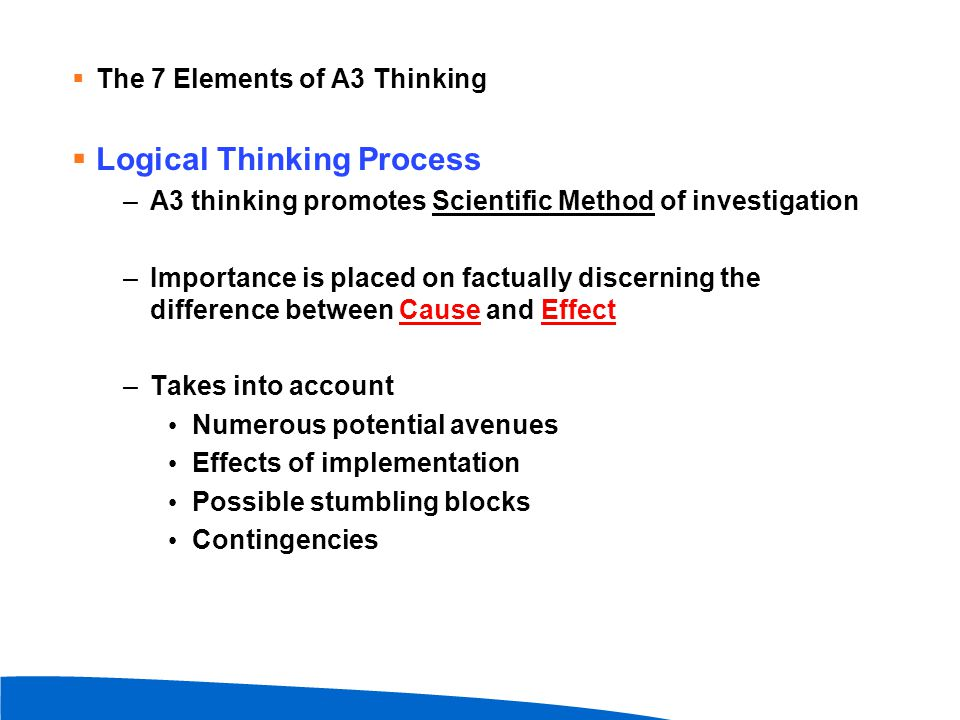 Logical Thinking Process