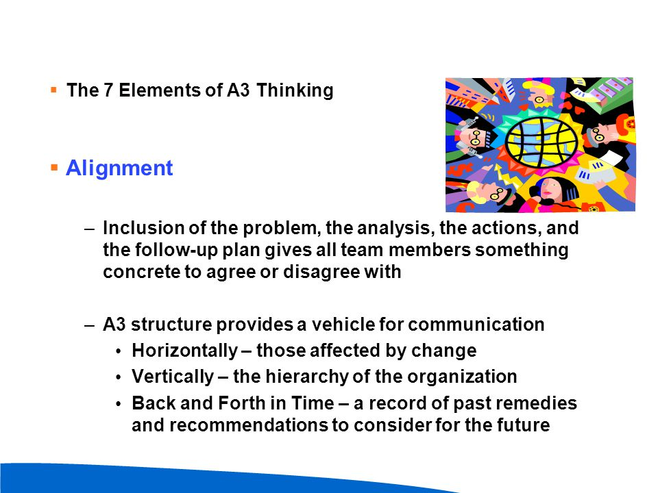 Alignment The 7 Elements of A3 Thinking