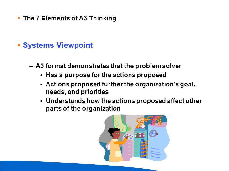 Systems Viewpoint The 7 Elements of A3 Thinking