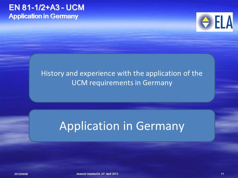 Application in Germany