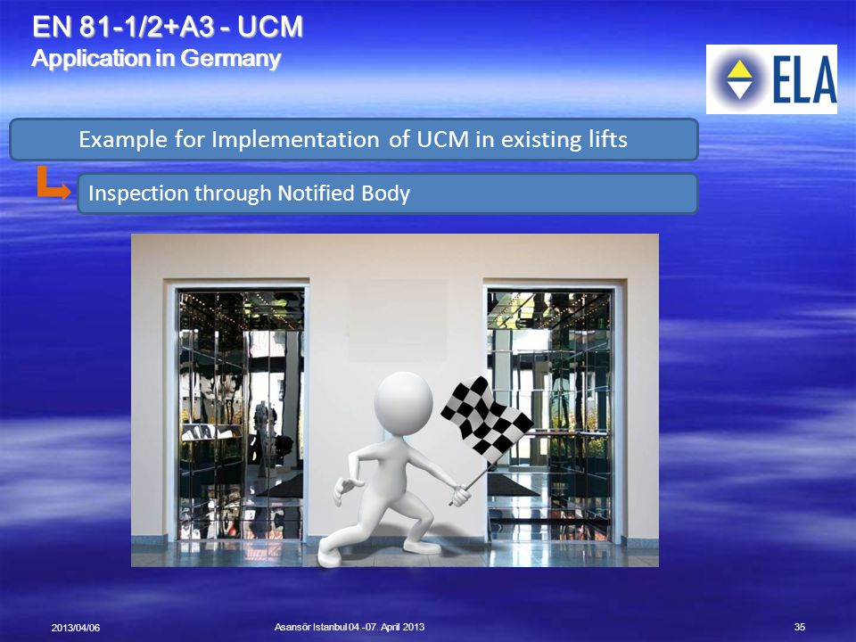Example for Implementation of UCM in existing lifts