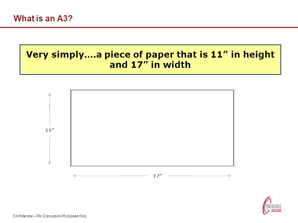 Very simply….a piece of paper that is 11 in height and 17 in width