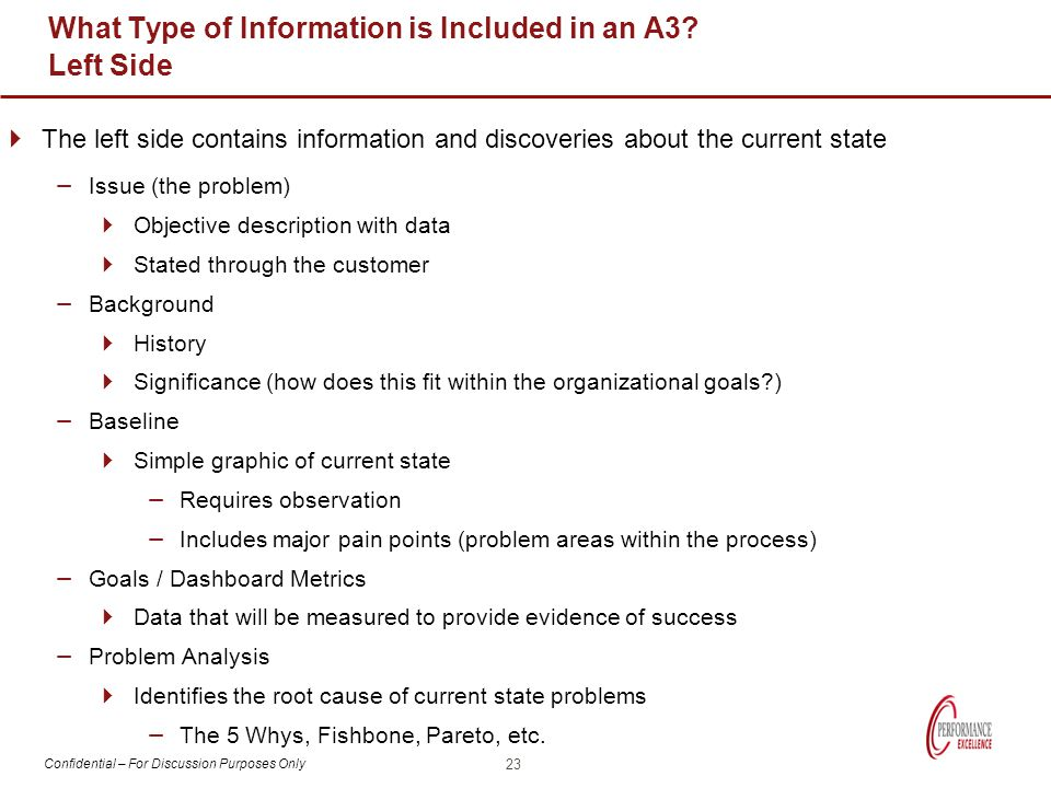 What Type of Information is Included in an A3 Left Side