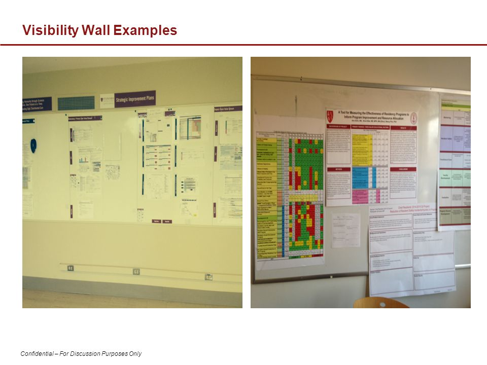 Visibility Wall Examples
