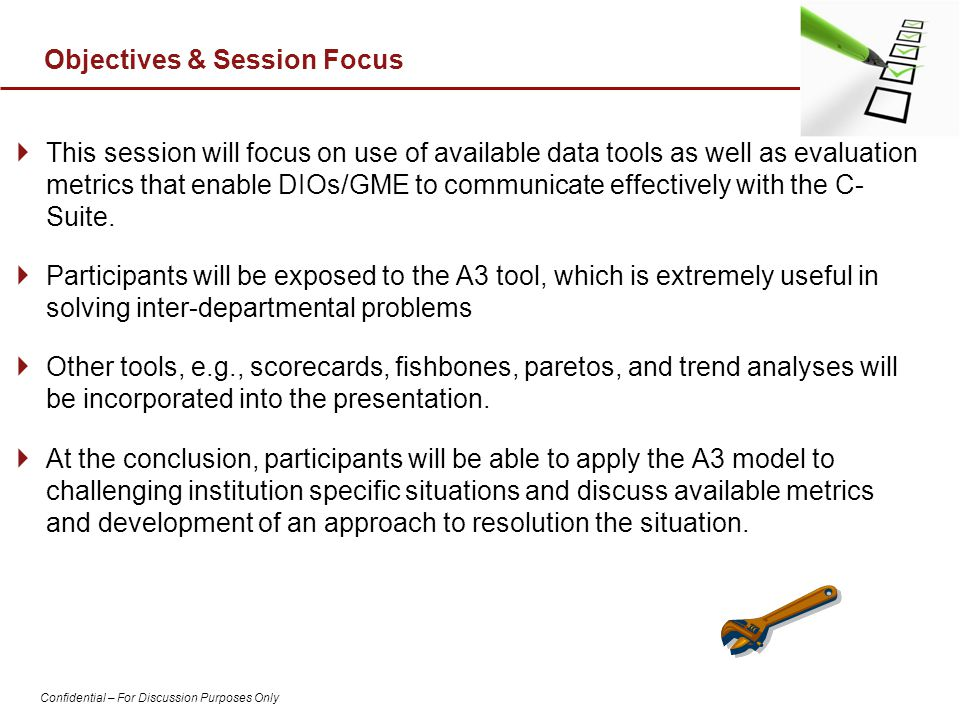 Objectives & Session Focus