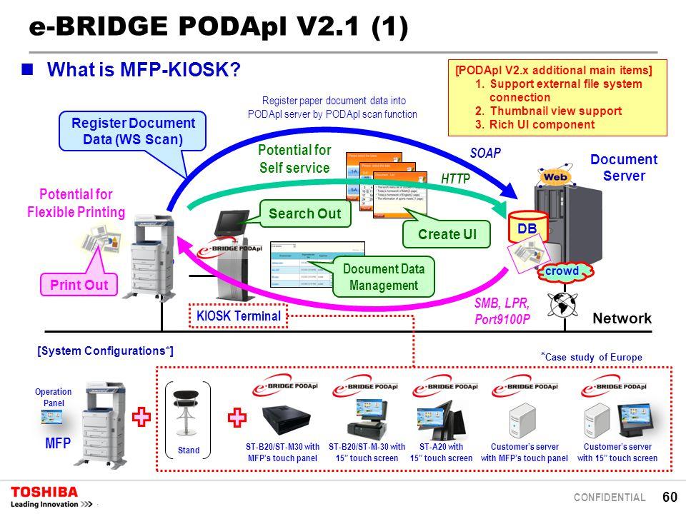 e-BRIDGE PODApl V2.1 (1) What is MFP-KIOSK Potential for Self service