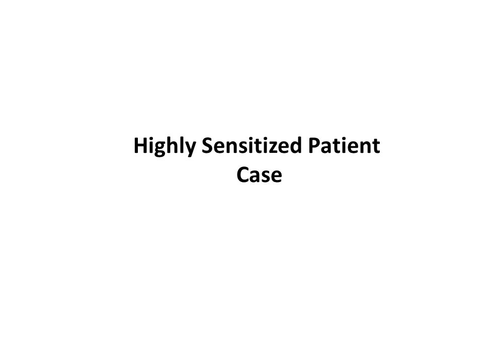 Highly Sensitized Patient