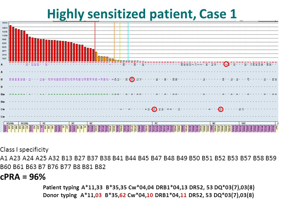 Highly sensitized patient, Case 1