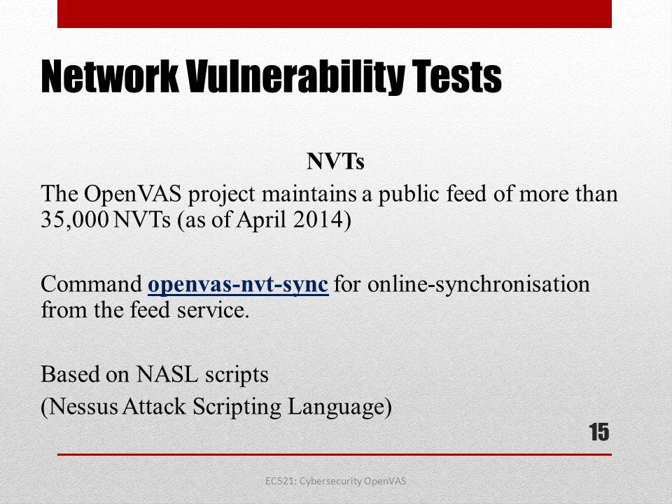 Network Vulnerability Tests