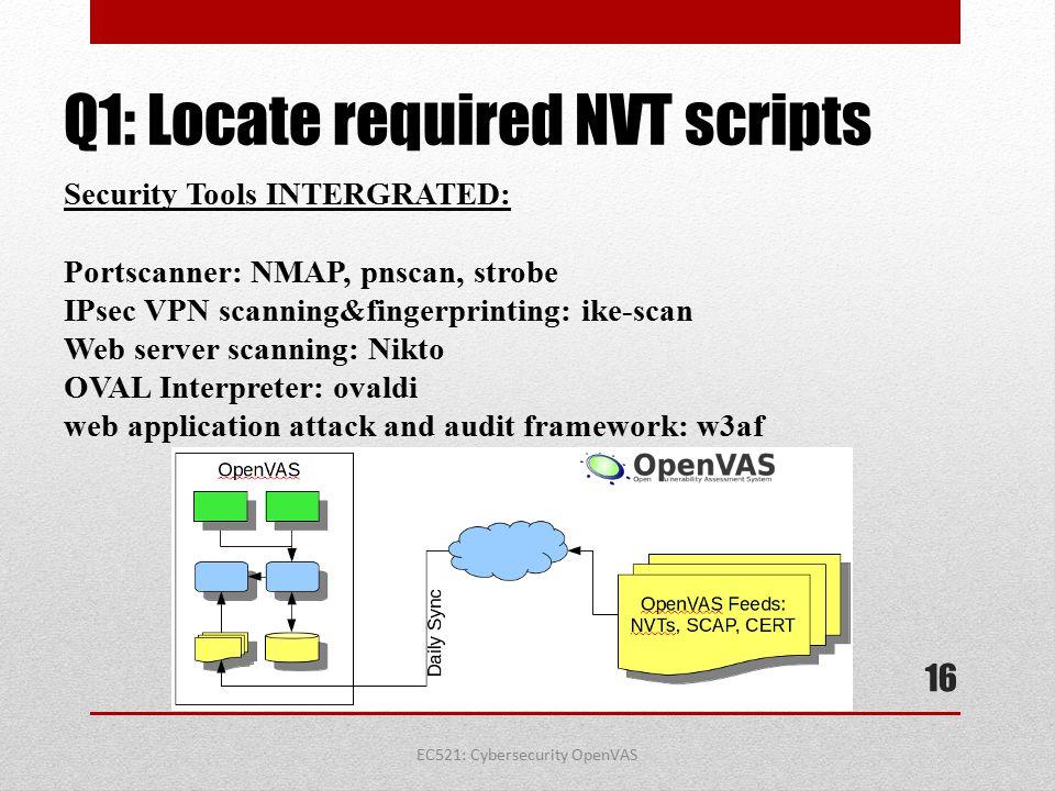 Q1: Locate required NVT scripts