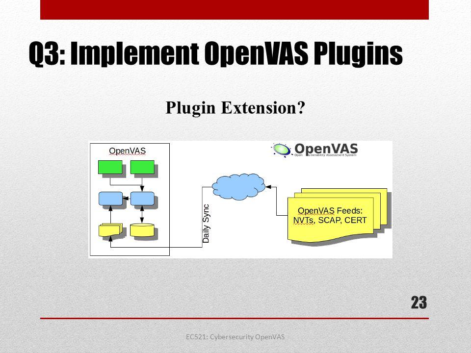 Q3: Implement OpenVAS Plugins