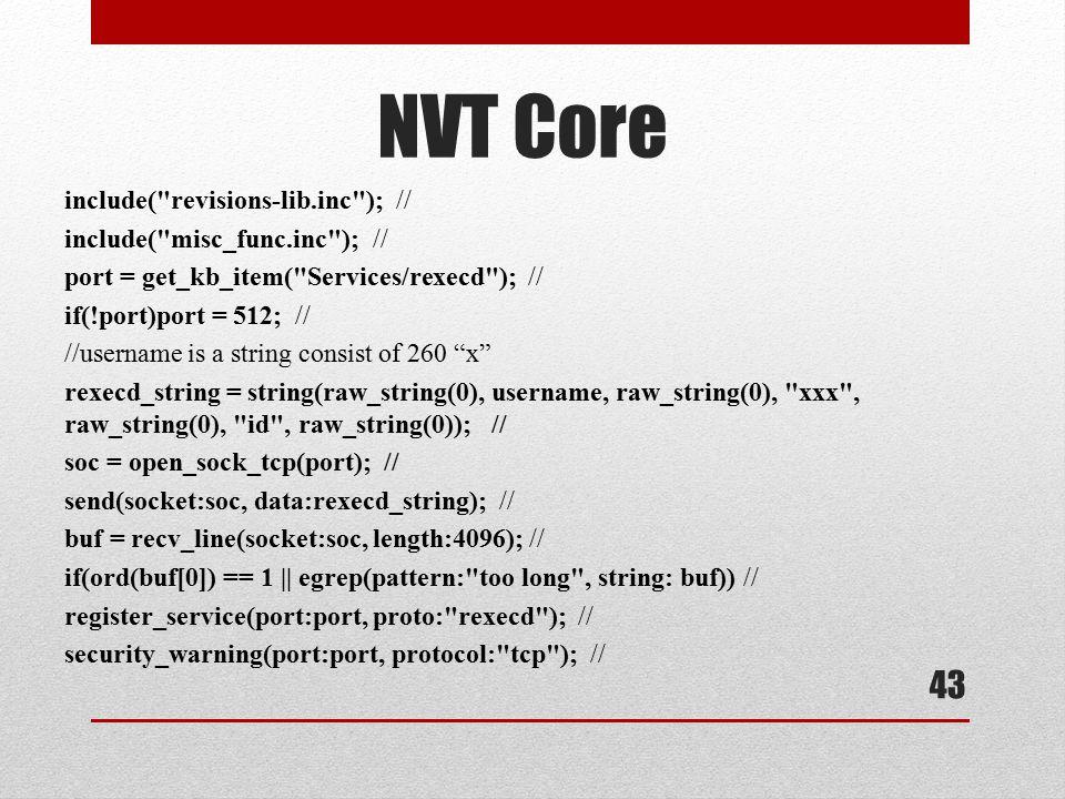 NVT Core include( revisions-lib.inc ); // include( misc_func.inc ); //