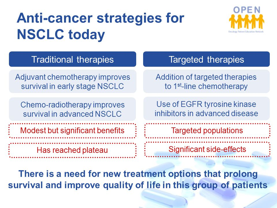Anti-cancer strategies for NSCLC today