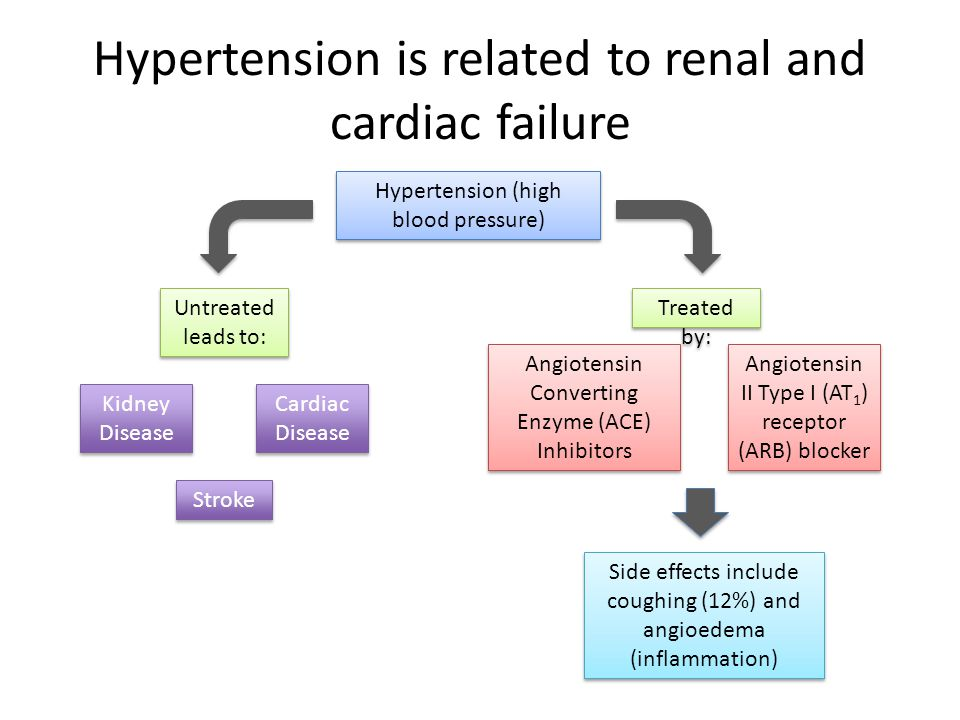 Hypertension is related to renal and cardiac failure