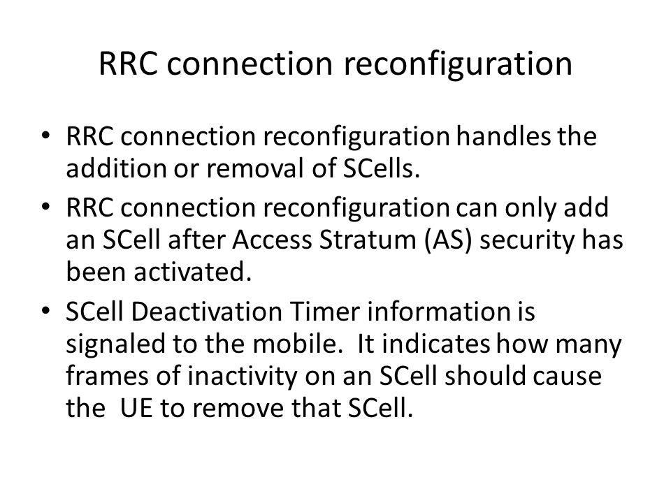 RRC connection reconfiguration