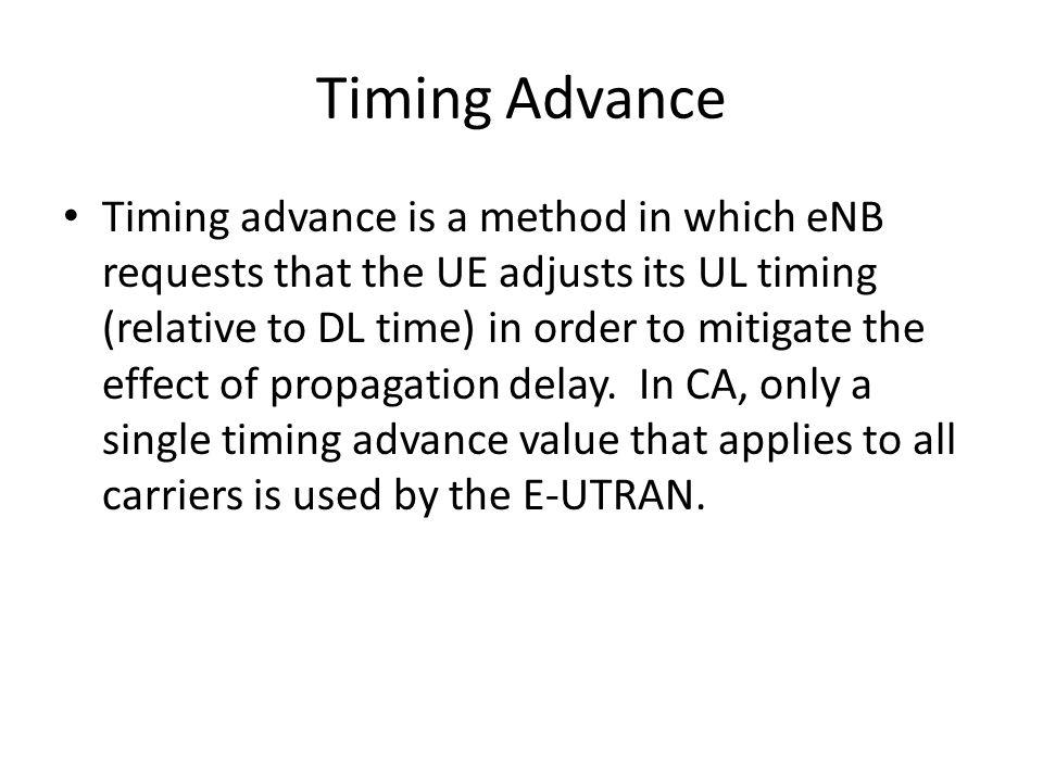 Timing Advance