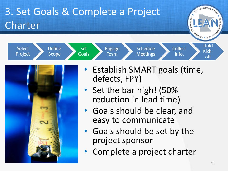 3. Set Goals & Complete a Project Charter