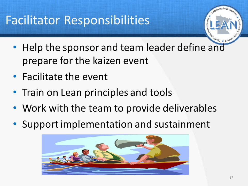 Facilitator Responsibilities