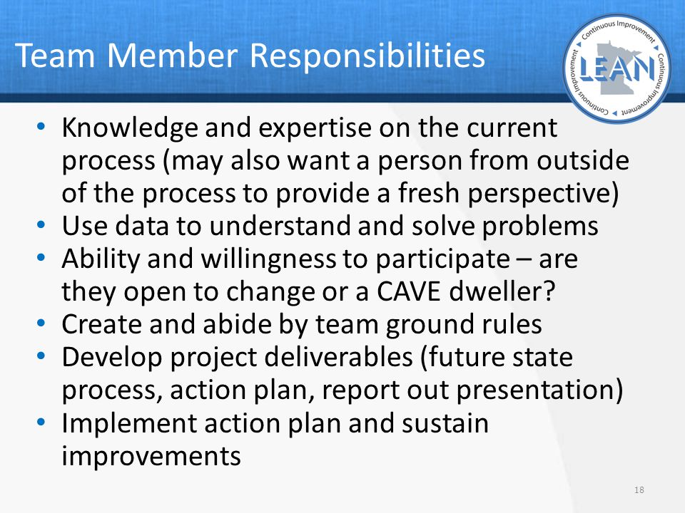 Team Member Responsibilities