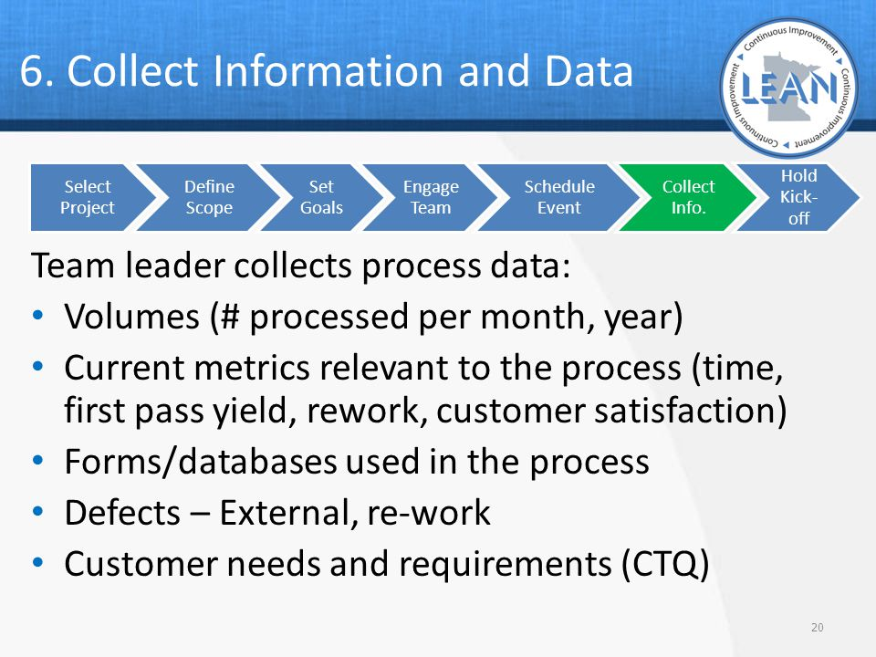 6. Collect Information and Data