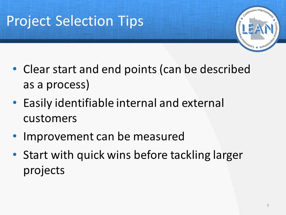 Project Selection Tips