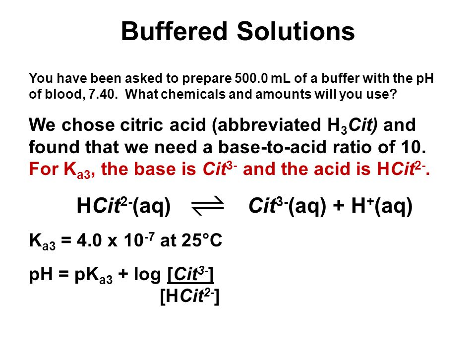 Unit 4-5: Acids and Bases 3 Buffered Solutions.
