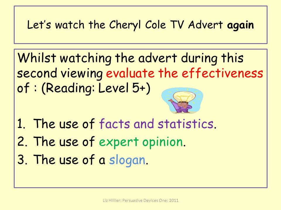Let's watch the Cheryl Cole TV Advert again