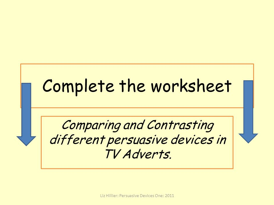 Complete the worksheet