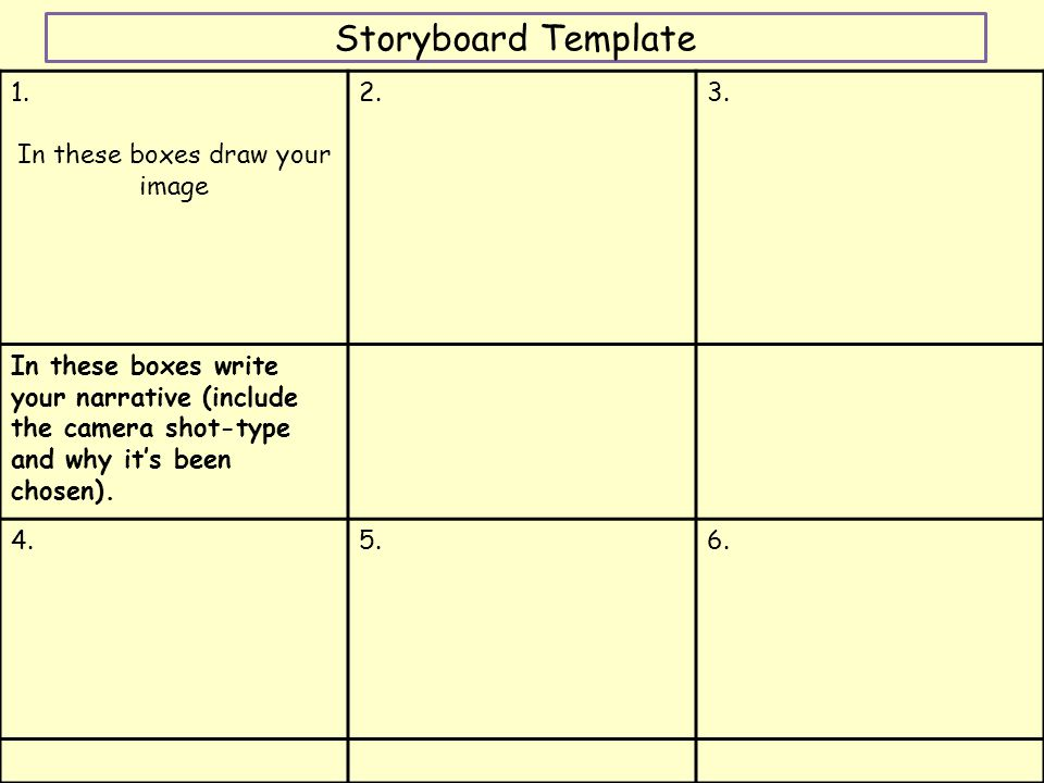 Storyboard Template 6 Boxes By Le1984 Teaching Mandegarfo