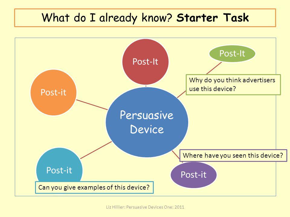 What do I already know Starter Task
