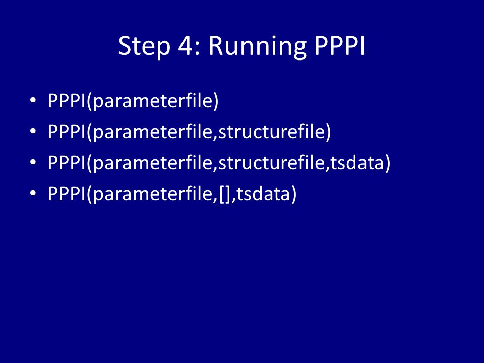 Step 4: Running PPPI PPPI(parameterfile)