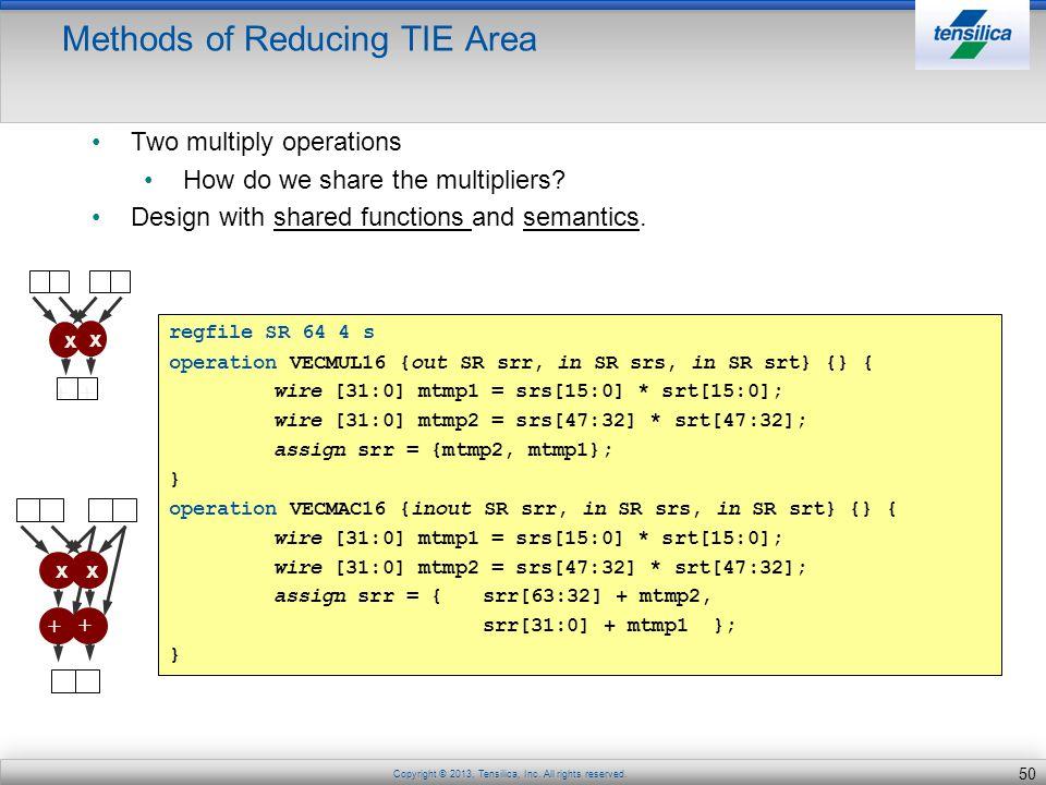 Methods of Reducing TIE Area