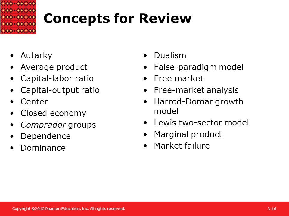 Concepts for Review Autarky Average product Capital-labor ratio