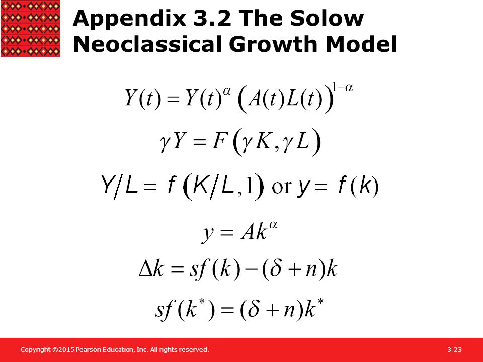 Appendix 3.2 The Solow Neoclassical Growth Model