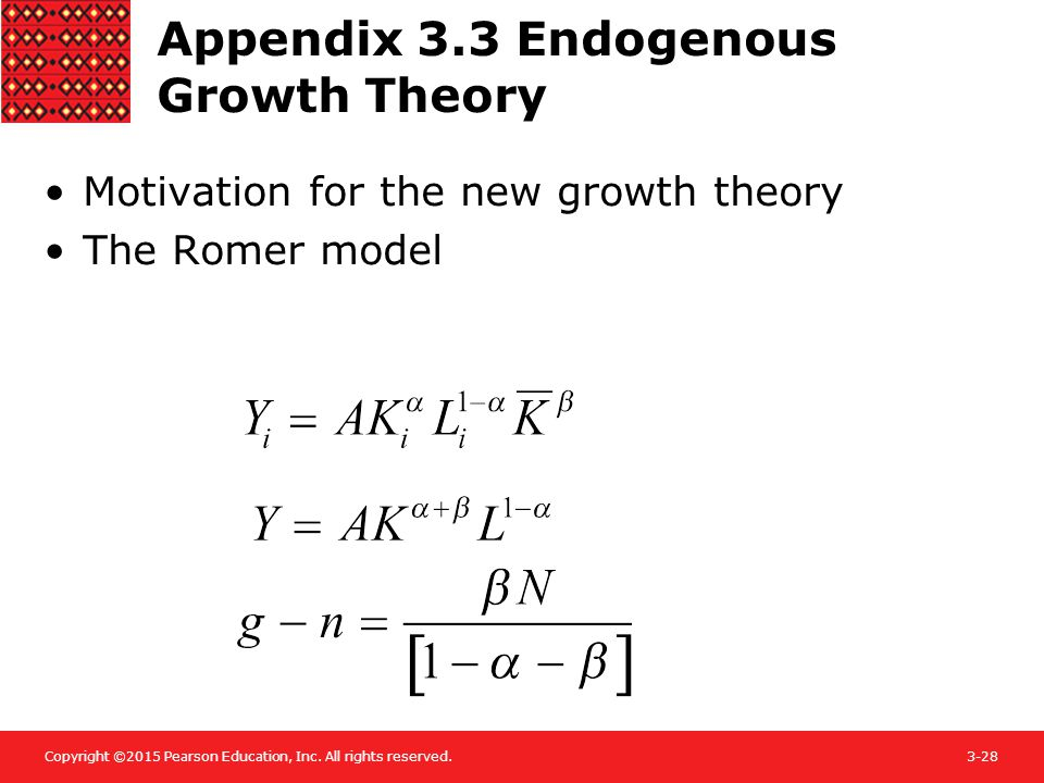 Appendix 3.3 Endogenous Growth Theory