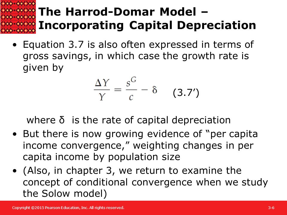 The Harrod-Domar Model – Incorporating Capital Depreciation