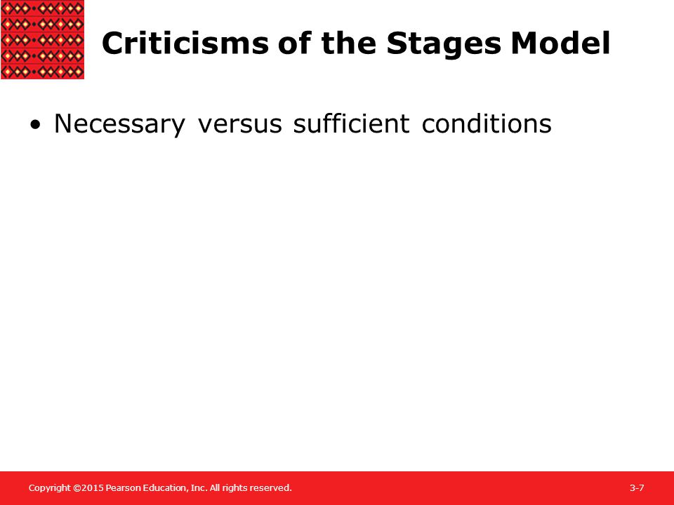 Criticisms of the Stages Model
